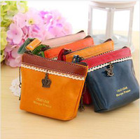 Wholesale Coin Purses Lace lady leather wallet purse coin bag Wallets amp Holders