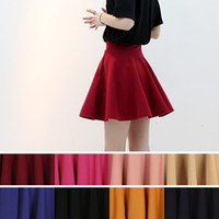 Wholesale 2013 NEW Women Winter Dress Nylon Pleated Skirt High Waist Ball Gown Skirt Colors One Size Drop Shipping