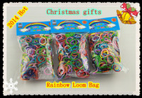 Wholesale Hot SELL Color best toys Rainbow loom rubber band package S hook Christmas gifts