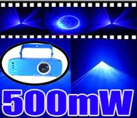 laser show equipment - 500mW nm Pure Blue Beam laser Show Equipment Sound Active DJ Party Disco Club Bar Stage Laser Lighting