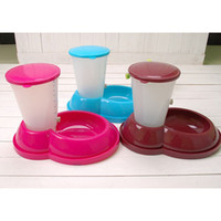 Automatic Feeders & Waterers Plastic Indoor PP Resin Pet Automatic Feeder Dog Cat Food Bowl Water Bowl CF036