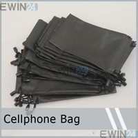 Wholesale Soft PU Calfskin Pouch Carry Bag Case Holder For Cellphone Phone Sunglasses Glasses Cellphone Drawstring