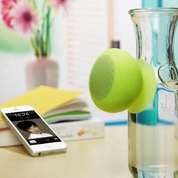 Wholesale mini Bluetooth Speaker MIC Voice Mushroom Speakers Hands Free Silicone Sucker Waterproof for iPhone iPad Samsung Galaxy