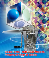 tablet press machine - one set of ROUND punch die mold hopper manual single punch tablet press machine