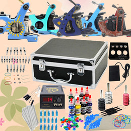 Wholesale Top Tattoo Kit Machine Guns Power Supplies Inks Needles Set GBL WS K302B01 USA Warehouse