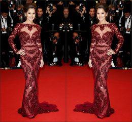Wholesale Fashion Cheryl Cole Zuhair Murad Evening Dress Vogue Trumpet Mermaid Long Length Cannes Celebrity Dresses Pageant Gowns