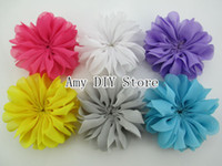ballerina supplies - 120pcs colors Mini Ballerina Flowers Unfinished inch Chiffon Ballerina Flowers DIY Hair Accessories Supplies flower fabric HH037
