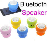 Wholesale 2013 Christmas Day new Colors Mini Stereo Bluetooth Speaker Subwoofer Bass Sound Box for iPhone iPod iPad Handsfree Mic Car Suction Cup
