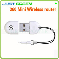 Yes Yes  360 Mini Wifi Router Portable Routers USB 2.0 Built-in Antenna Suitable For Notebook Mobile Phone Tablet PC