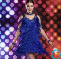 Wholesale Girls Sexy Evening Cocktail Club Latin Salsa Ballroom Dance Party Fringe Dress Costume Colors