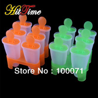 Plastic Eco-Friendly,Stocked 6 Cell Ice Cream Mold 6 Cell Frozen Ice Cream Pop Mold Popsicle Maker Lolly Mould Tray Pan Kitchen [23326|01|01]