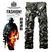 Pants cargo pants for men - Hot sales brand Men s fashion army green gray Camouflage Casual cargo pants military camo Multi Pocket pants joggers for men