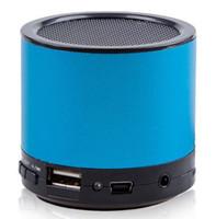 Nueva Llegada Azul Altavoz portátil Mini Altavoz Reproductor de MP3 USB TF Tarjeta de Radio FM Altavoz del Teléfono Móvil Altavoz de Equipo 10PCS DHL