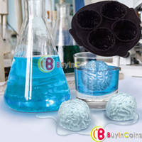 Wholesale Silicone Drink Tray Cool Brain Shape Ice Cube Freeze Mold Ice Bar Maker Mould