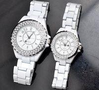 Wholesale Luxury Watch Women Fashion Imitation Diamond Shinning Quartz watch Lady s wrist watches Sinobi Matching Watch for Christmas gift