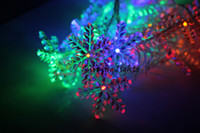 20LED copo de nieve ligero 6.7cm gran copo de nieve Fadas luces fiesta de la boda luz luz de vacaciones luz del hotel luz de cadena LED XMAS luces de Navidad