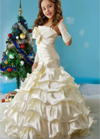 Wholesale NEW PAGEANT FLOWER GIRL PARTY HOLIDAY DRESS IVORY