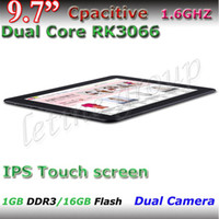 Wholesale Cheap Inch RK3066 Tablet PC IPS Screen dual core supper slim G G android external G with bluetooth Capacitive screen