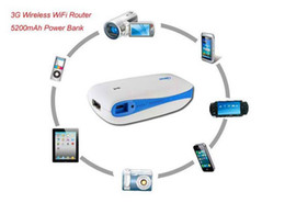 Wholesale Wireless Router of G Mobile Power H G100 G G Hotspot Wireless WiFi MiFi Router mAh Power Bank With RJ45 USB Port