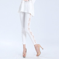 Cheap Rosy Lace leggings the matte imitation leather Free Shipping W3023