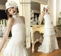 Bohemia New Collection Sheer Vintage Garden Wedding Dresses ...