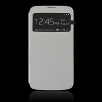 For Samsung Leather White For Samsung Galaxy Mega 6.3 i9200 Battery Leather Flip Cover cell cover with touchable window with different models from China