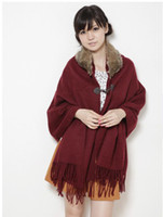 Wholesale Good Quailty Hoodied Shawls Womens Fashion womens trendy Acrylic AC063