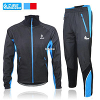 Wholesale 2013 new ARSUXEO Wind and warm winter fleece long sleeve cycling jersey cycling clothing suit jacket pants mountain bike clothing men