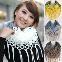 Wholesale Fashion Women s Winter Warm Knitting Scarf Infinity polyester Tassel Scarves