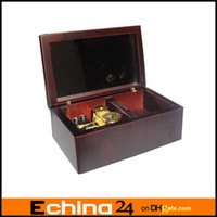 Wholesale Wooden Music Box with Gold movement Play Lilium of Elfen Lied Model M33 Claret