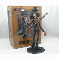 Wholesale New Japanese Anime Cartoon One Piece POP Action Figures PVC Toys Doll POP Movie skull cannon Brook retail