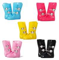 Wholesale Panda Children s Rain Boots Waterproof Shoes Adjustable Wellies Galoshes Colorful Rainboots Cartoon Style