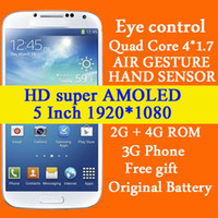 No Brand 5.0 Android Real S4 1:1 GT-i9500 i9500 Perfect Full 5 inch HD Dispaly MTK6589 Quad core Android 4.2 2GB RAM 12MP Floating(H9500 N9500 Mini S4)