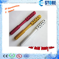 aluminum ,Germanium   Facial Beauty Massage Roller equipment,with 27 Germanium,anion energy 1000cc,three colors,free shipping,M