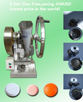 Wholesale three sets of punch moulds dies hopper V V TDP1 automatic single punch pill maker tablet press machine