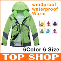 Wholesale Women s Warm Ski Clothes Sweatshirt Coat With Hat piece Clothing color Waterproof Windproof Breathable Wicking Camping amp Hiking Jackets