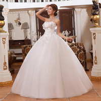 Wholesale Bridal Gowms2013 new arrival wedding dress sweet princess bride tube top bandage white flower