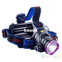 Wholesale 1800 Lumens CREE XM L XML T6 LED Headlamp Headlight Flashlight Head Lamp Light Car Charger for Hunting Camping