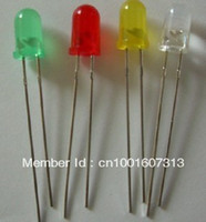 Wholesale 3MM LED light emitting diode LED component package red green and yellow blue and five kinds of