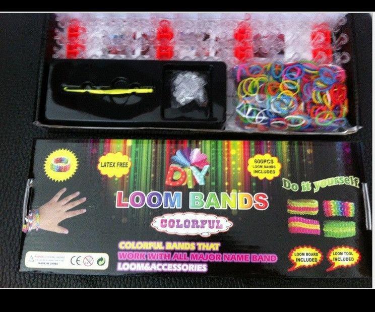 Diy loom band kit rainbow loom kit rainbow loom diy rubber wrist bands