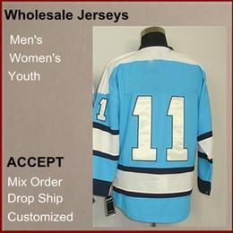 Wholesale Hot selling Cheap Brand new Athletic Jerseys Jordan Staal V Neck blue Color Men s Hockey Jerseys size Mix Order