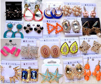 Charm asian delivery - 50 Pairs Unique Design Korean Style Exquisite Diamond Earring Charm Stud Mix Order Free Delivery