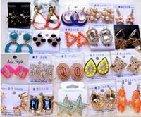 Wholesale Unique Design Korean Style Exquisite Diamond Earring Charm Stud Mix Order Free Delivery