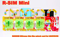 Wholesale Original R SIM Mini RSIM Mini Unlock Sim Card mm for iPhone s c s iOS DHL