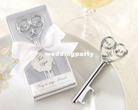 "Wedding Event & Party Supplies Party Favor ""Key to my heart"" victorian wine bottle opener in White Box 100PCS LOT Free shipping wedding favor gift"