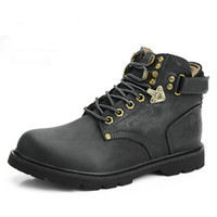 Wholesale Hot brand fashion Mens casual shoes working shoes Hiking outdoor Designer Genuine Leather British Riding Boots Sports cols