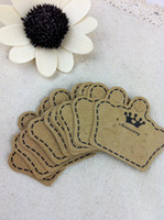 Wholesale Paper Jewelry Display Packing Card Brown Paper Crown Custom Jewelry Earring Packaging Display Cards