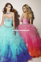 A-Line Model Pictures Strapless Wholesale - best sale The new 2014 luxury wedding dress Colourful tutu and real diamond wedding bandage Korean star models GJN