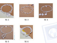 Wholesale New listing beautiful fashion solid silver charm Swarovski Elements crystal bracelet cute pretty holiday gift