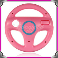 Wholesale Hot Pink Steering Wheel For Nintendo for Wii Mario Kart Racing Games Remote Controller Console